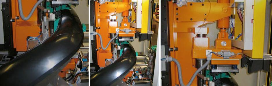 Hydraulische Sondereinheit zum Ausschneiden der Anhängerkupplungsaussparung im Heckstoßfänger