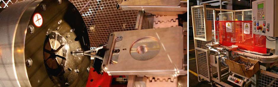 Presse Verpressen von Stahlseilen